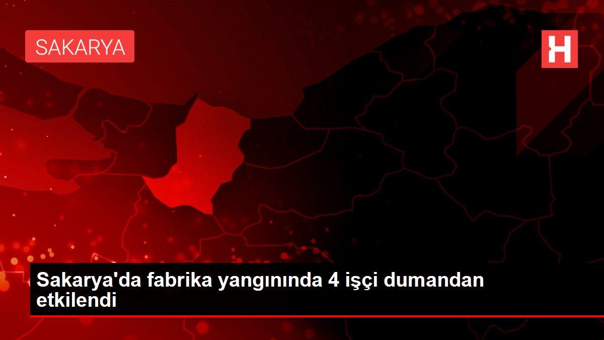 Sakarya'da fabrika yangınında 4 işçi dumandan etkilendi
