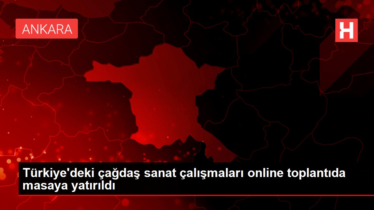 Türkiye'deki çağdaş sanat çalışmaları online toplantıda masaya yatırıldı