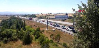 Gerede: Bolu Dağı'nda bayram trafiği; Ankara yönü dolu, İstanbul yönü boş