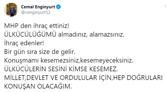 Son Dakika: MHP Ordu Milletvekili Cemal Enginyurt partiden ihraç edildi