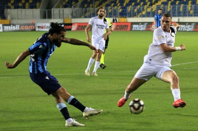TFF 1. Lig Play-Off Finali: Adana Demirspor: 0 Fatih Karagümrük: 1 (İlk yarı)