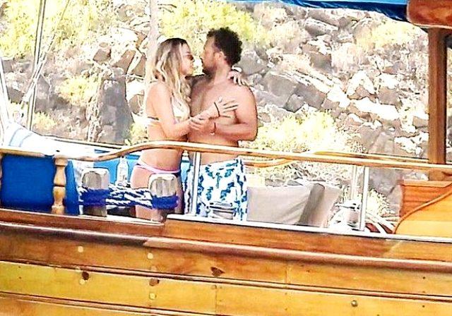 Ünlü modacı Ivana Sert aşka geldi! Sevgilisini öpücüklere boğdu