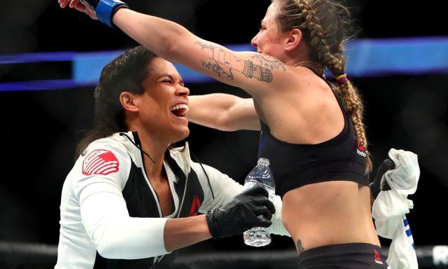 Tarihin ilk eşcinsel şampiyonu olan Amanda Nunes, 8 aylık hamile eşiyle boks antrenmanı yaptı
