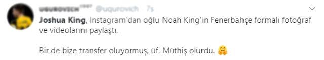 Bournemouth'lu Joshua King'in sosyal medya paylaşımındaki Fenerbahçe detayı dikkat çekti