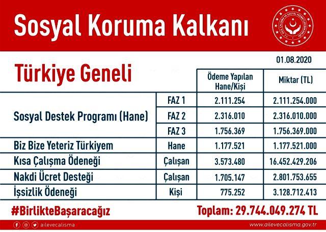 Son Dakika: Biz Bize Yeteriz Türkiyem Kampanyası'yla 1,2 milyon haneye 1.000'er TL'lik yardım yapıldı