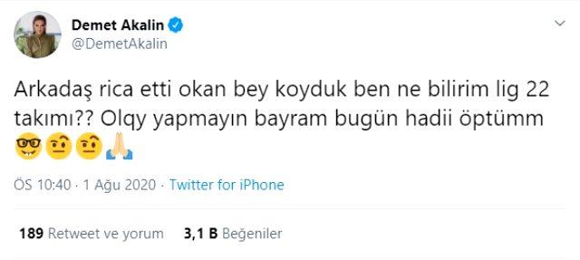 Demet Akalın 'Süper Lig'de 22 takım olmalı' tweetini sildi ve açıklama yaptı: Ben ne bilirim?