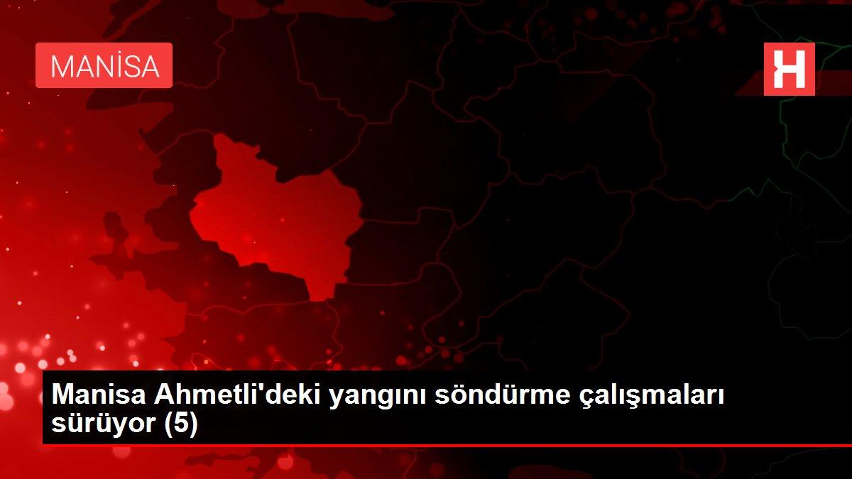 Manisa Ahmetli'deki yangını söndürme çalışmaları sürüyor (5)