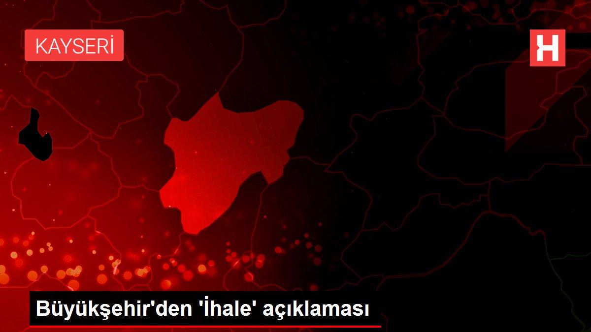 Büyükşehir'den 'İhale' açıklaması