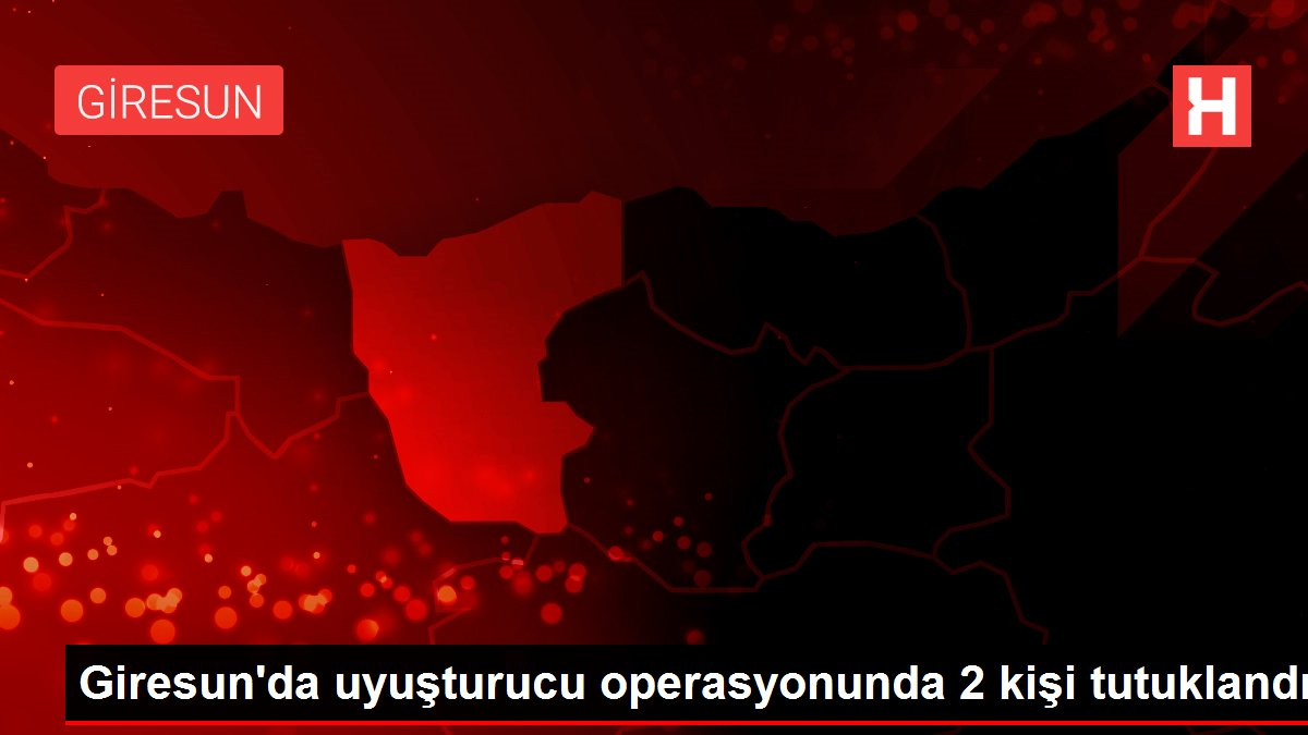 Giresun'da uyuşturucu operasyonunda 2 kişi tutuklandı