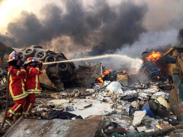 Son Dakika: Lübnan'ın başkenti Beyrut'ta büyük bir patlama meydana geldi