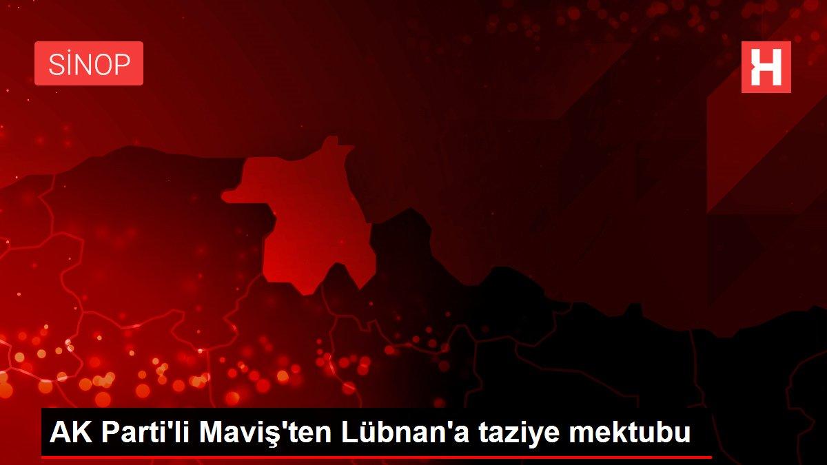 AK Parti'li Maviş'ten Lübnan'a taziye mektubu