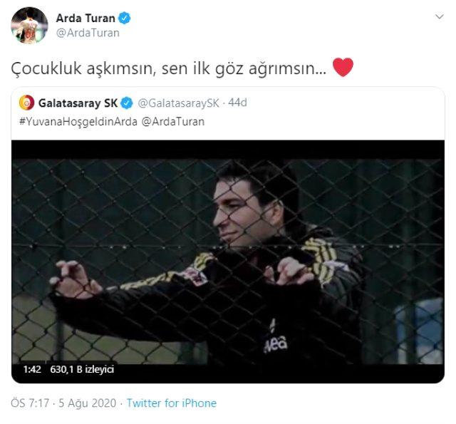 Arda Turan'dan imza sonrası ilk sözler! Profil fotoğrafını '66' ile değiştirdi
