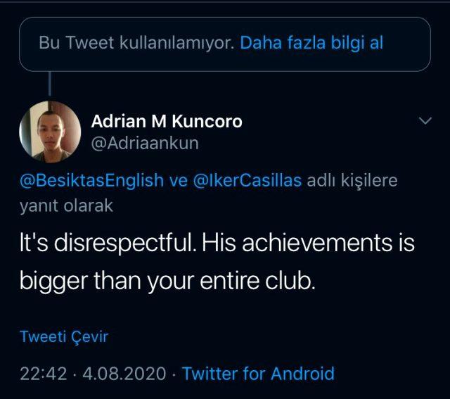 Beşiktaş, tepki toplayan Iker Casillas paylaşımını sildi