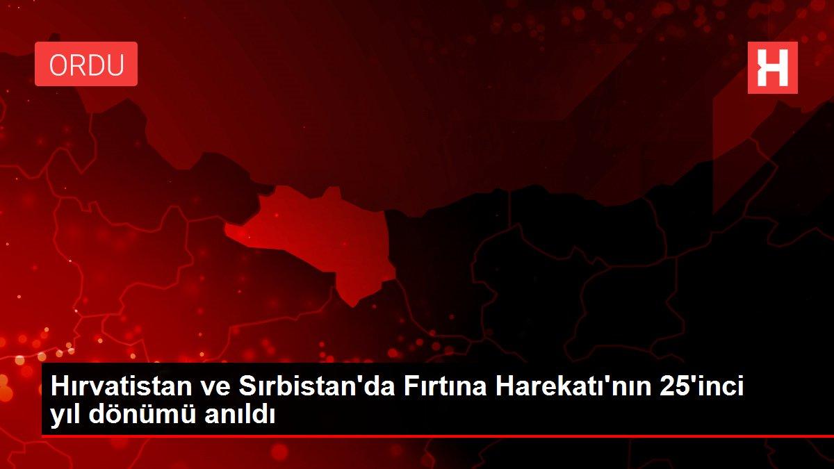Son dakika haber... Hırvatistan ve Sırbistan'da Fırtına Harekatı'nın 25'inci yıl dönümü anıldı