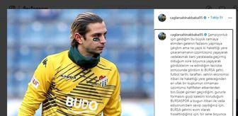 Çağlar Şahin: Kaleci Çağlar Şahin Akbaba'dan Bursaspor'a veda