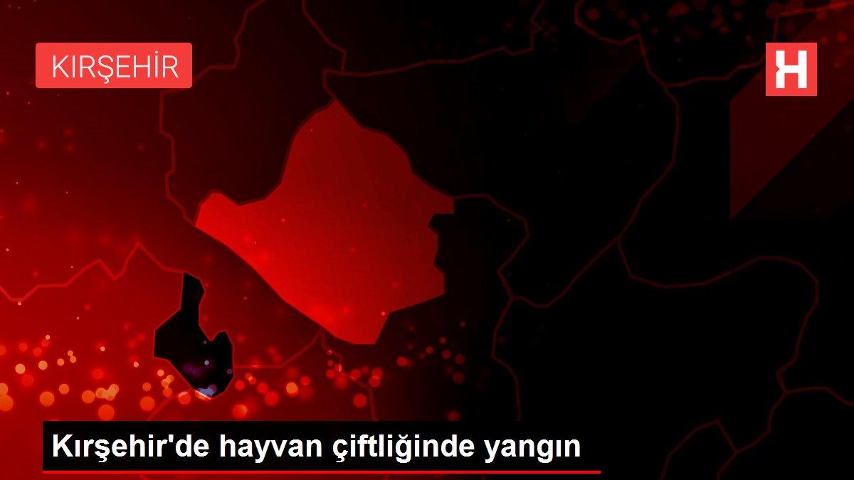 Kırşehir'de hayvan çiftliğinde yangın
