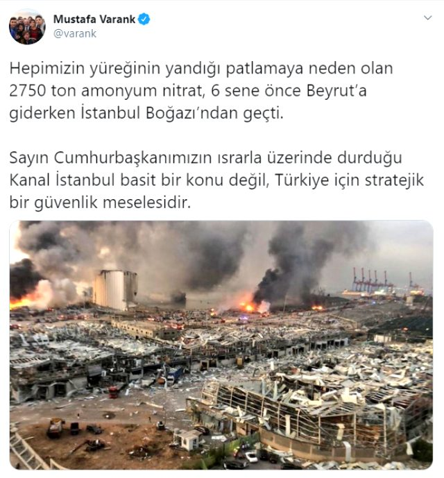 Son Dakika: Beyrut'ta faciaya neden olan 2750 ton amonyum nitratın 6 sene önce İstanbul Boğazı'ndan geçtiği ortaya çıktı