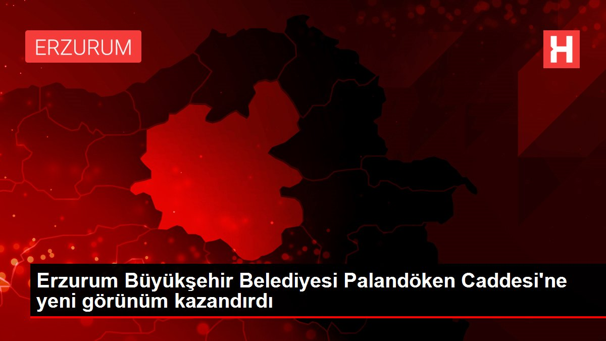 Erzurum Büyükşehir Belediyesi Palandöken Caddesi'ne yeni görünüm kazandırdı