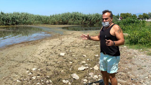 İznik Gölü neredeyse 20 metre çekildi, korkutan durum havadan görüntülendi