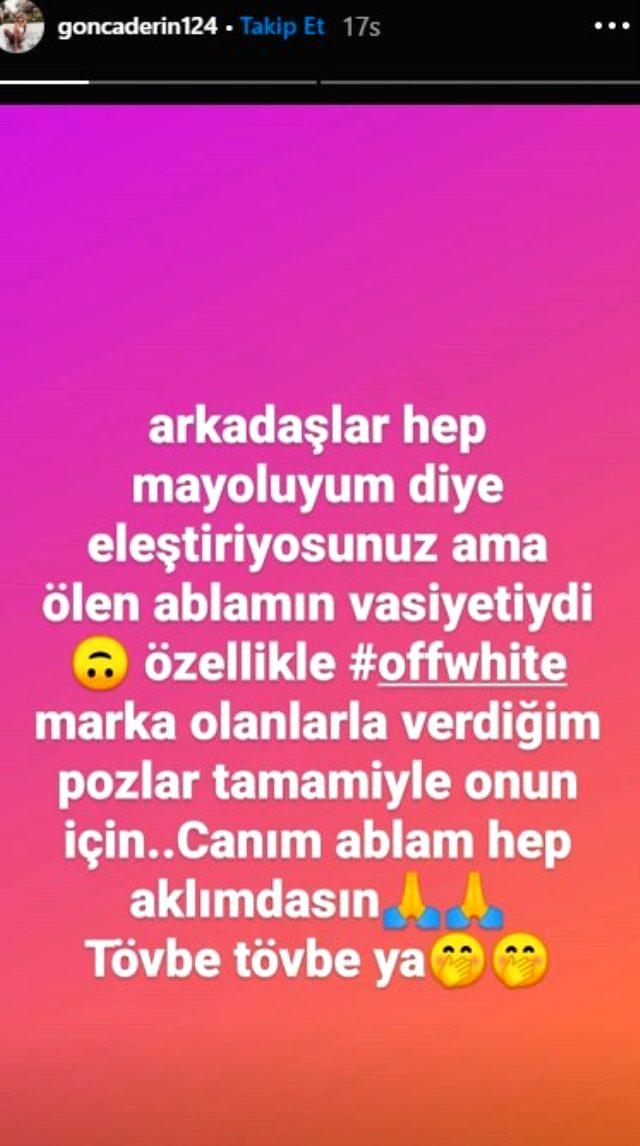 Mayolu pozlarından dolayı eleştirilen Ebru Şallı'ya Gonca Derin'den skandal gönderme