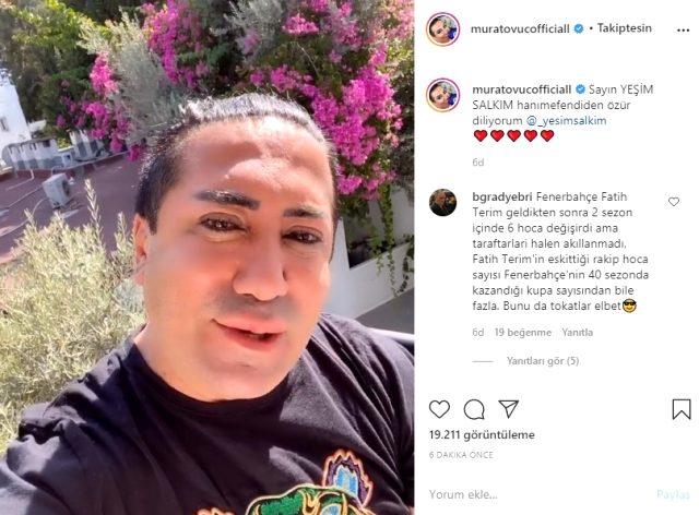Murat Övüç, küfür ettiği Yeşim Salkım'dan özür diledi