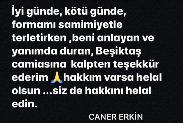 Son Dakika: Gökhan Gönül'ün ardından Caner Erkin de Beşiktaş'tan ayrıldı