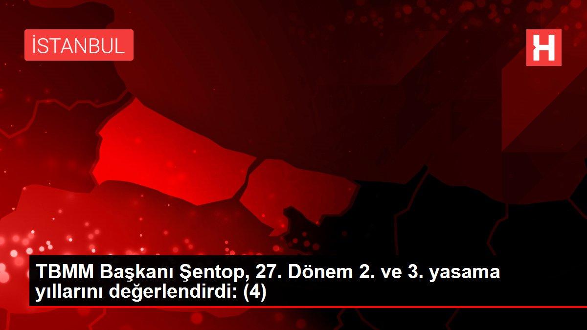 TBMM Başkanı Şentop, 27. Dönem 2. ve 3. yasama yıllarını değerlendirdi: (4)