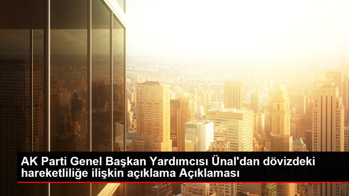 AK Parti Genel Başkan Yardımcısı Ünal'dan dövizdeki hareketliliğe ilişkin açıklama Açıklaması