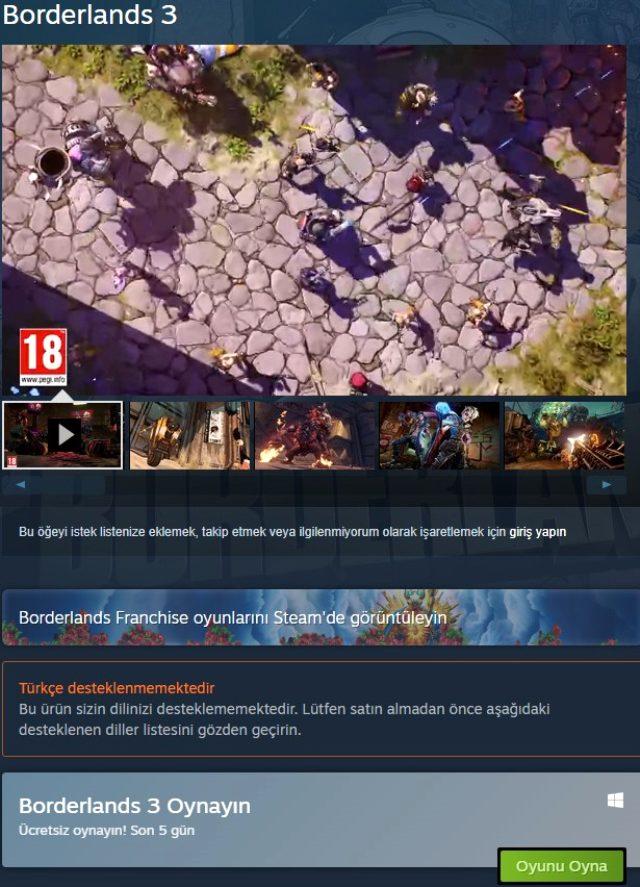 Borderlands 2 Steam üzerinde ücretsiz oldu, Yeni ücretsiz oyun, bedava oyun