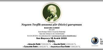 Neyzen Tevfik: Kartal Belediyesi, Neyzen Tevfik Şiir (Hiciv) Yarışması'nın ilkini düzenliyor