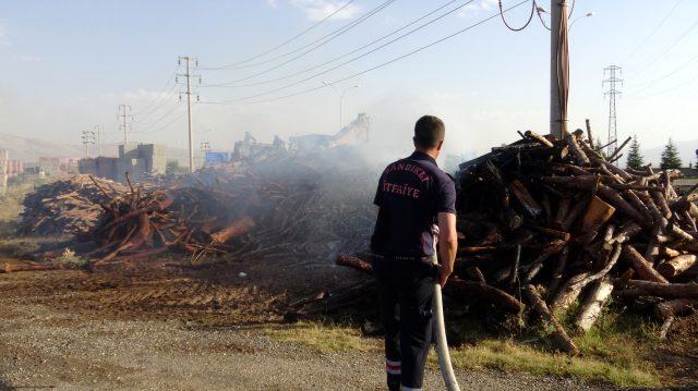 Sorumsuzların araçtan attığı sigara izmariti, 10 ton odunu küle çevirdi