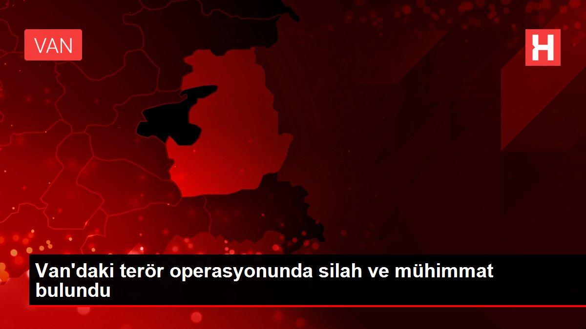 Van'daki terör operasyonunda silah ve mühimmat bulundu
