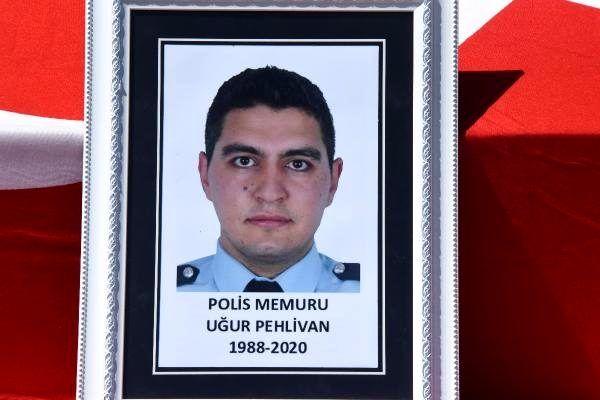 Kalp krizi geçirip yaşamını yitiren polis memuru memleketine uğurlandı