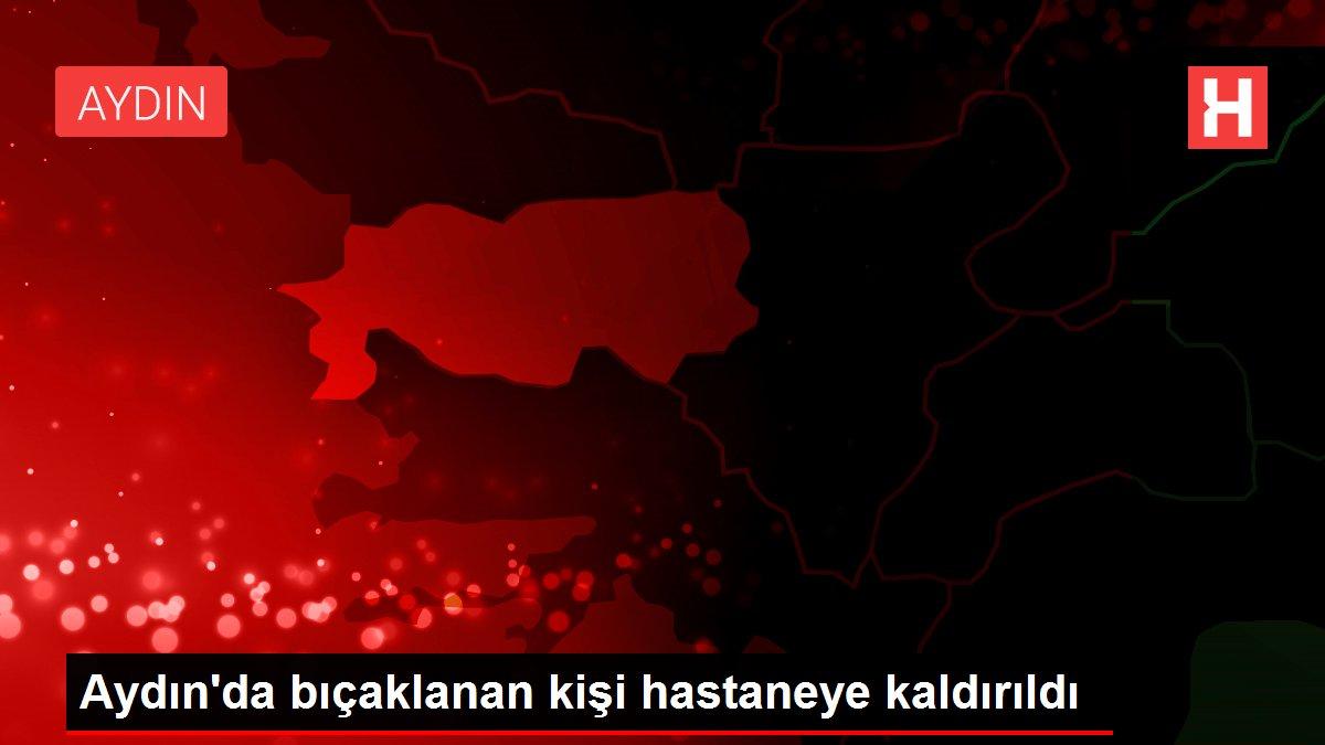 Aydın'da bıçaklanan kişi hastaneye kaldırıldı