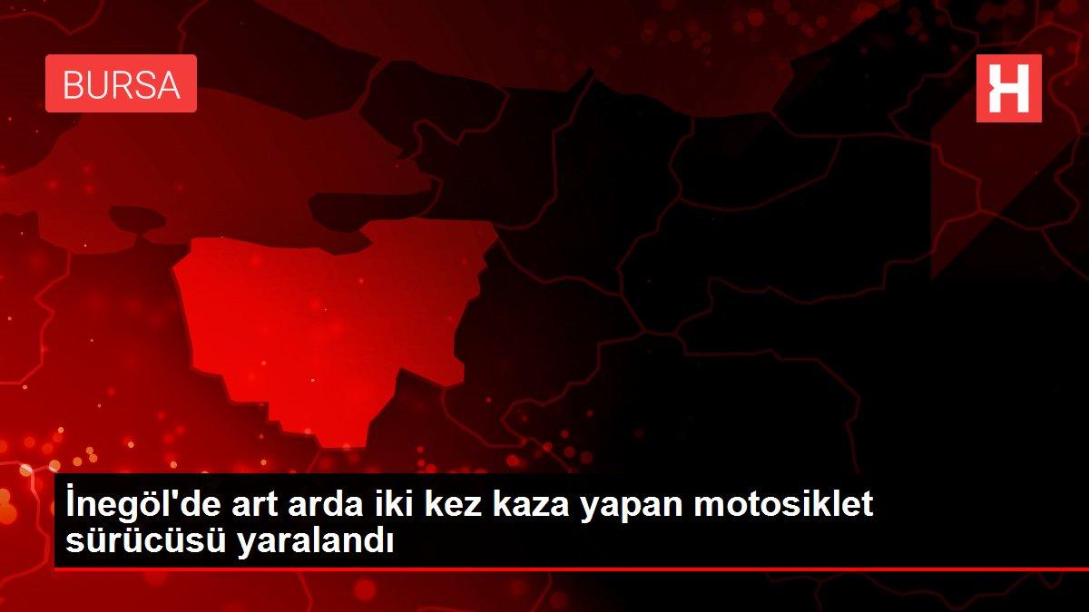 İnegöl'de art arda iki kez kaza yapan motosiklet sürücüsü yaralandı