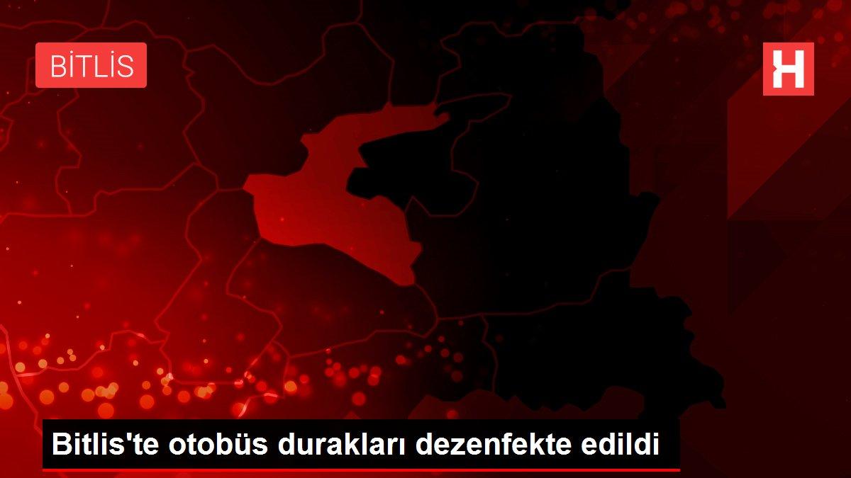Bitlis'te otobüs durakları dezenfekte edildi