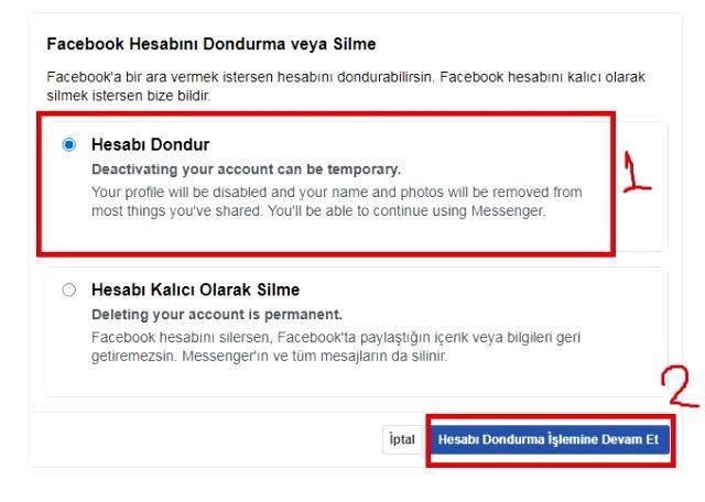Facebook hesap silme nasıl yapılır? Facebook hesap dondurma, kalıcı silme, geçici hesap kapatma, hesabı geri açma