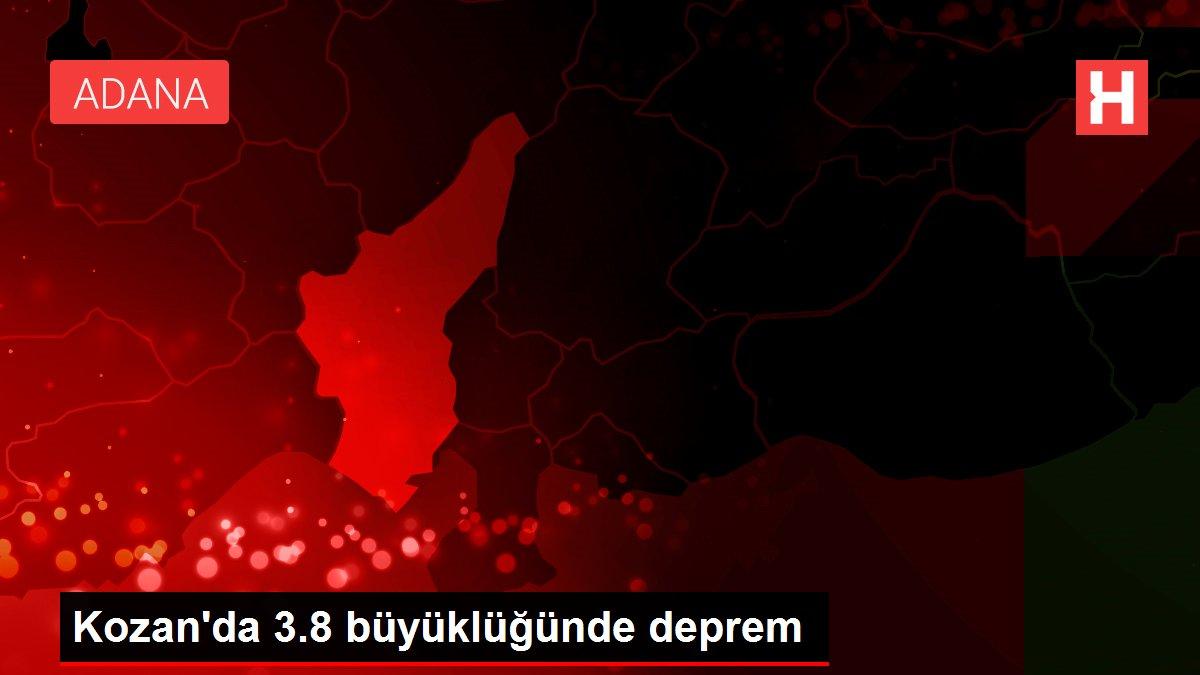 Son dakika haber! Kozan'da 3.8 büyüklüğünde deprem
