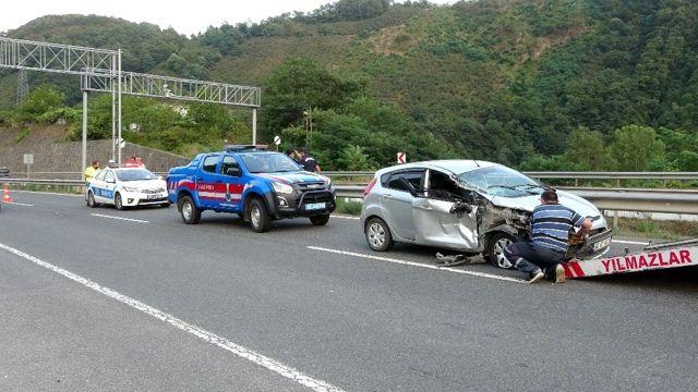 Ordu'da zincirleme trafik kazası: 2 yaralı