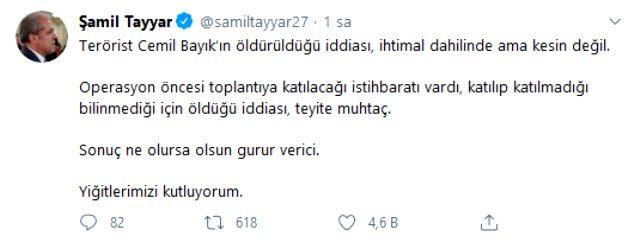 Öldürüldüğü söylenen PKK elebaşı Cemil Bayık'la ilgili AK Partili Şamil Tayyar'dan açıklama: İhtimal dahilinde ama kesin değil