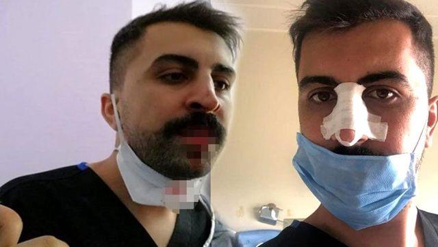 Sağlık çalışanlarına şiddet bitmiyor! Hasta yakını, sosyal mesafe uyarısı yapan hemşirenin burnunu kırdı