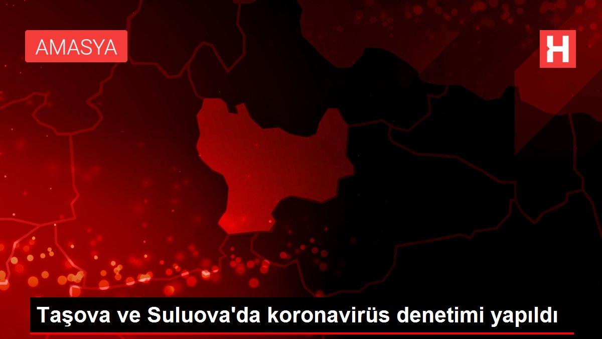 Taşova ve Suluova'da koronavirüs denetimi yapıldı