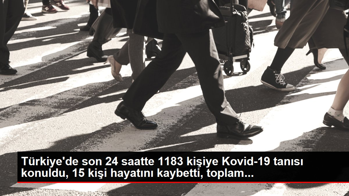 Son dakika haber! Türkiye'de son 24 saatte 1183 kişiye Kovid-19 tanısı konuldu, 15 kişi hayatını kaybetti, toplam...