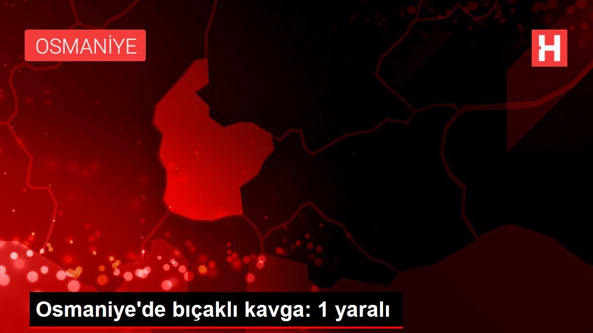 Osmaniye'de bıçaklı kavga: 1 yaralı