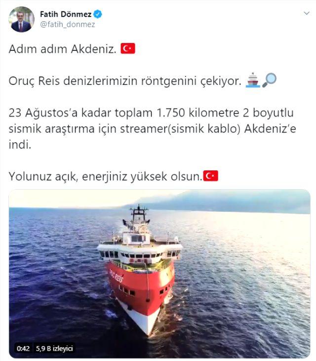 Son Dakika: Doğu Akdeniz'de faaliyet gösteren Oruç Reis gemisinin içinden çekilen görüntüler yayınlandı