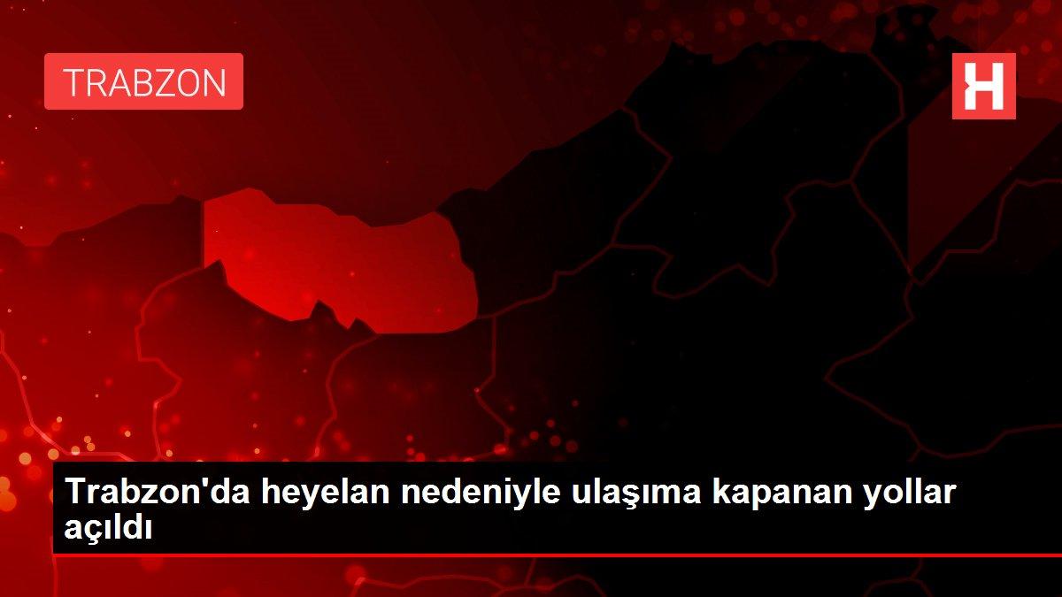 Trabzon'da heyelan nedeniyle ulaşıma kapanan yollar açıldı