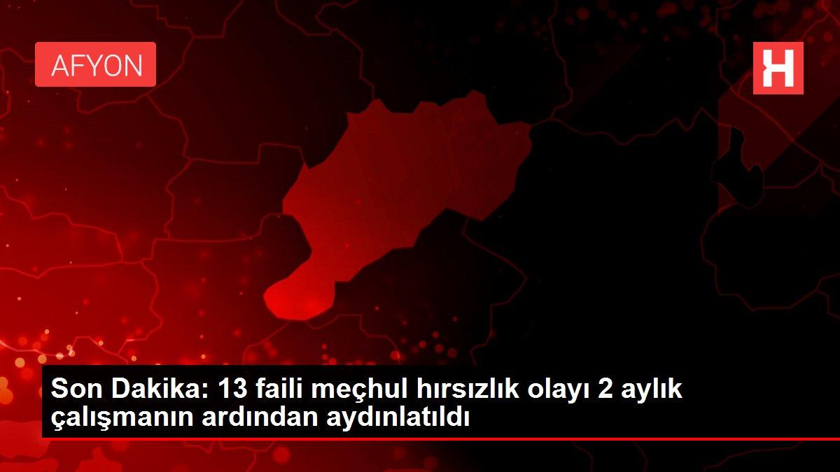 Son Dakika: 13 faili meçhul hırsızlık olayı 2 aylık çalışmanın ardından aydınlatıldı