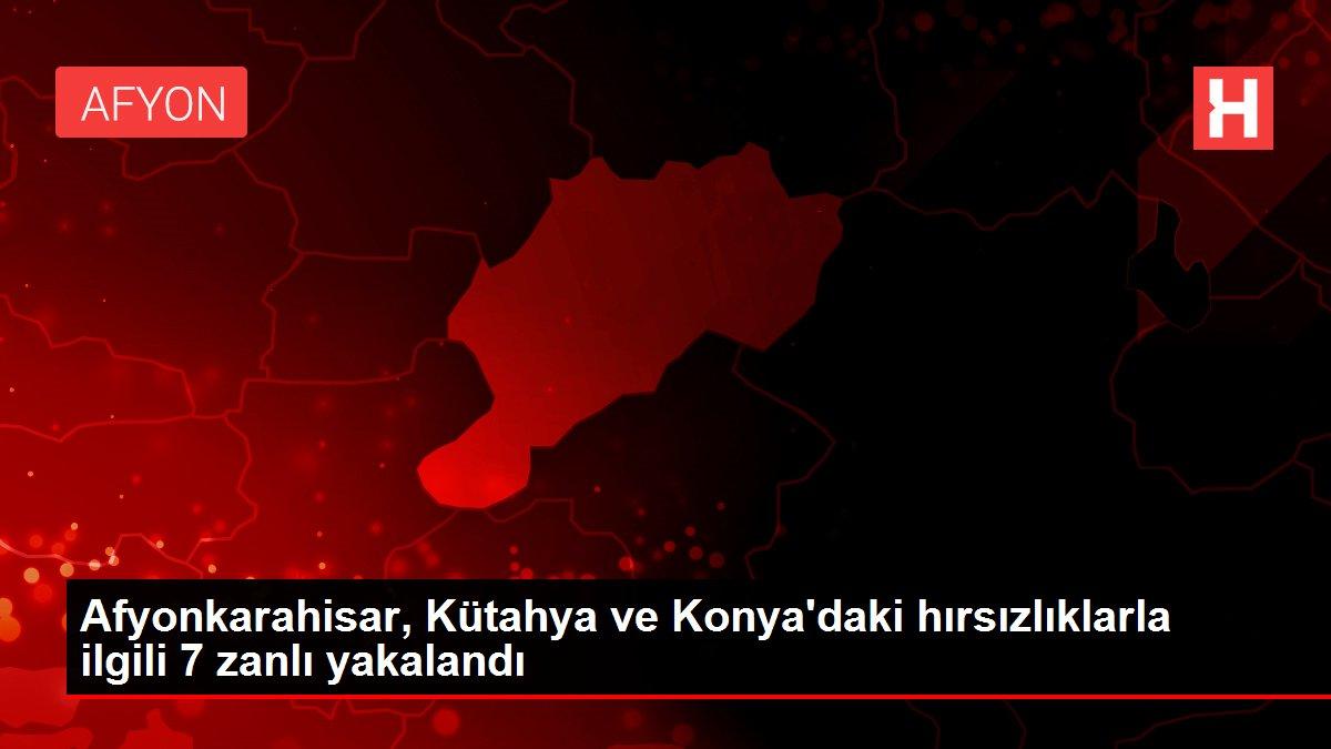 Afyonkarahisar, Kütahya ve Konya'daki hırsızlıklarla ilgili 7 zanlı yakalandı