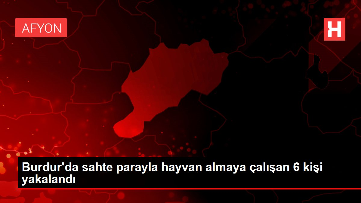 Burdur'da sahte parayla hayvan almaya çalışan 6 kişi yakalandı