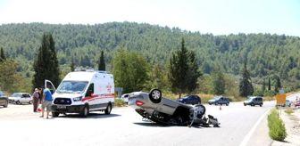 Ethem Yılmaz: Freni patlayan otomobil takla attı: 5 yaralı